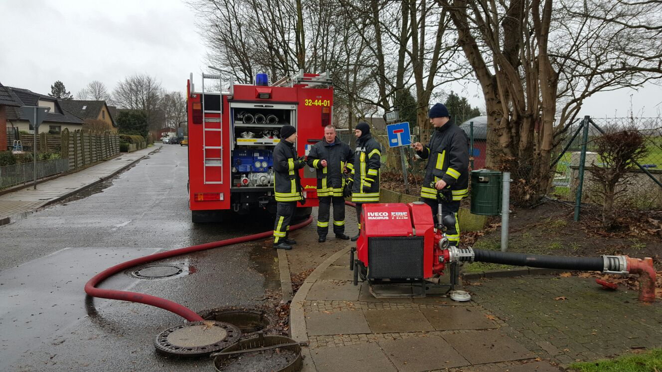 Kontrolle Der Bohrbrunnen Freiwillige Feuerwehr Hetlingen